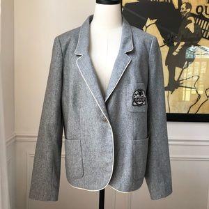 Lacoste Academic Wool Blend Varsity Blazer 44 10